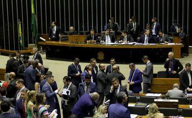 Plenário da Câmara dos Deputados, aprova projeto que autoriza repasses do governo para entidade de assistência a presos.