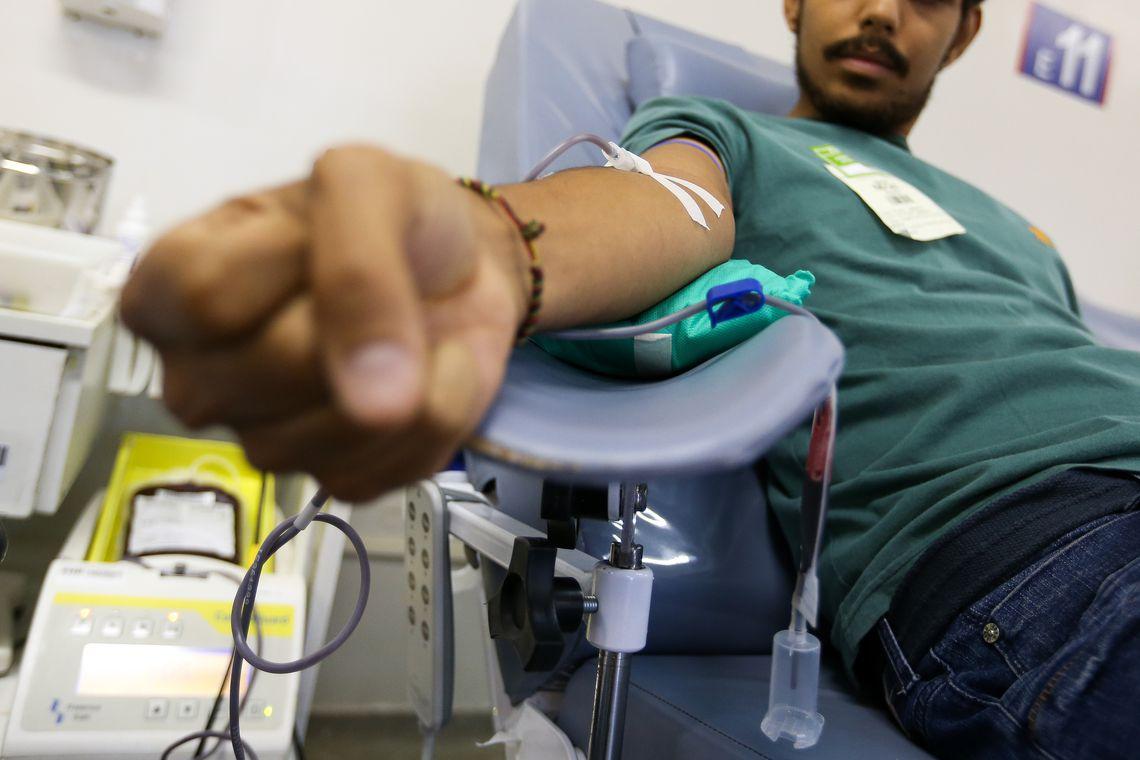 Para marcar o Dia Mundial do Doador de Sangue, o Ministério da Saúde lança campanha de doação de sangue, no Hemocentro de Brasília.