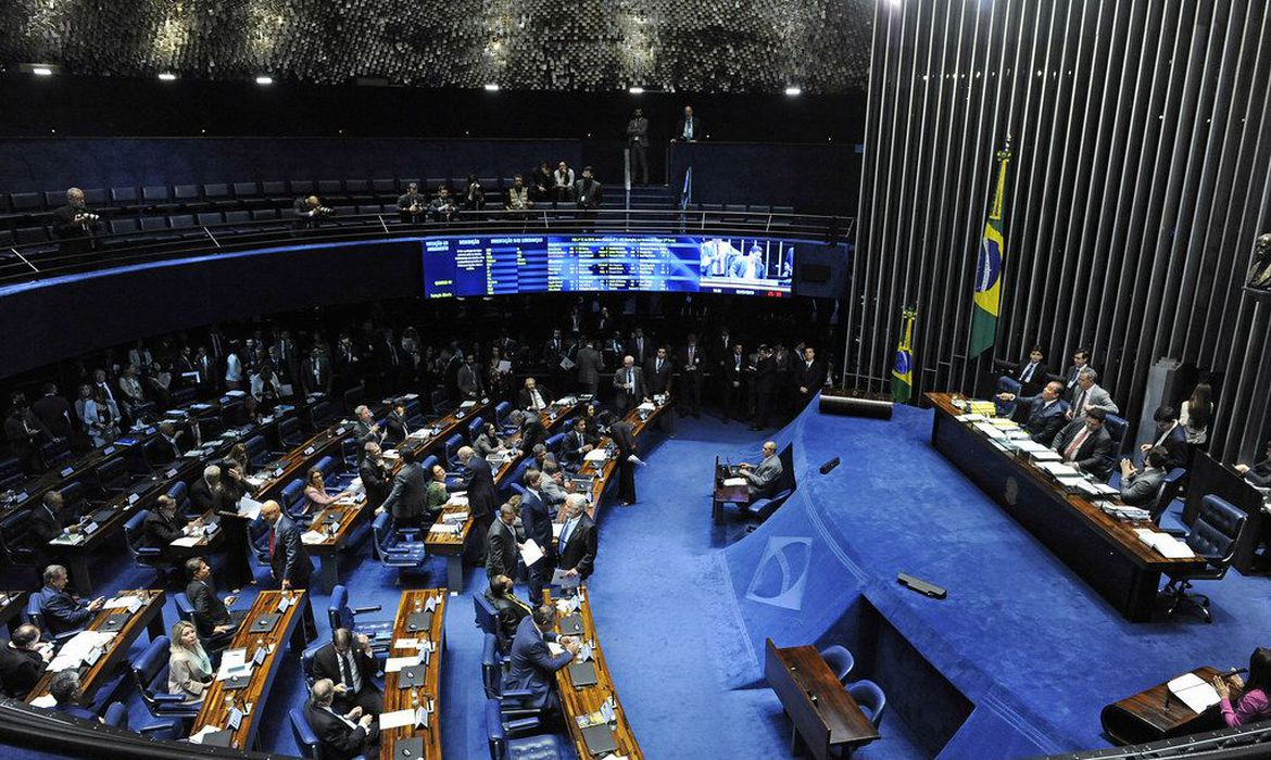 Plenário do Senado Federal durante sessão deliberativa ordinária.