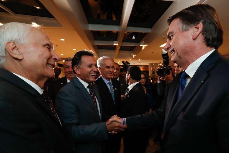 Presidente da República, Jair Bolsonaro, durante jantar de confraternização da Federação das Associações Muçulmanas do Brasil (FAMBRAS), na CNA.