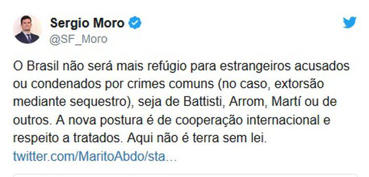 Moro comenta sobre refúgios de paraguaios.
