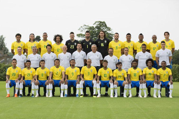 - Foto oficial da seleção brasileira para a Copa do Mundo na Rússia -  strong Lucas Figueiredo/CBF/Direitos Reservados /strong
