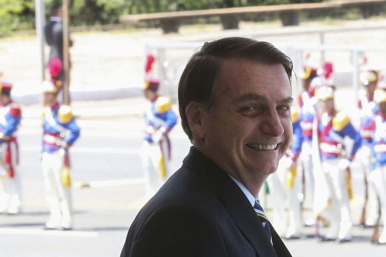 - O presidente Jair Bolsonaro faz transmissão ao vivo para apresentar balanço à sociedade -  strong Antonio Cruz/Agência Brasil /strong