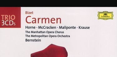 Capa do CD da ópera Carmen, de Bizet
