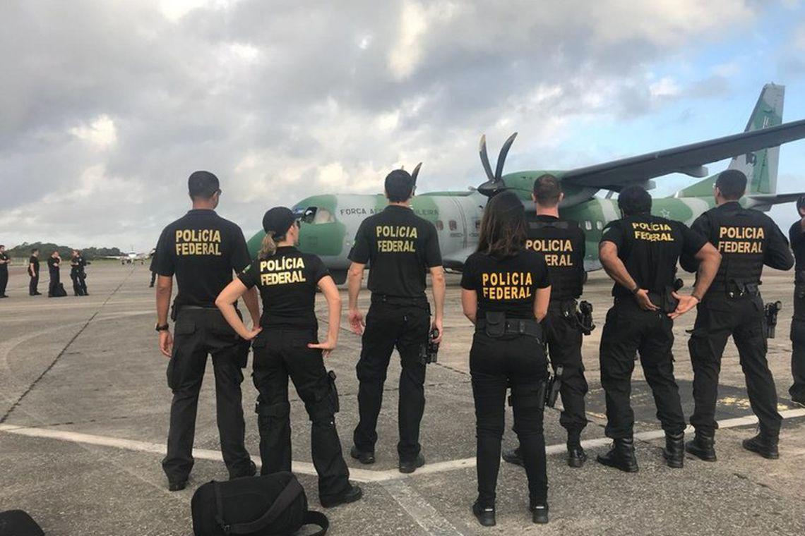 As ações da PF contam com apoio da Receita Federal, do Ministério Público Federal, da Força Aérea Brasileira e do Exército Brasileiro