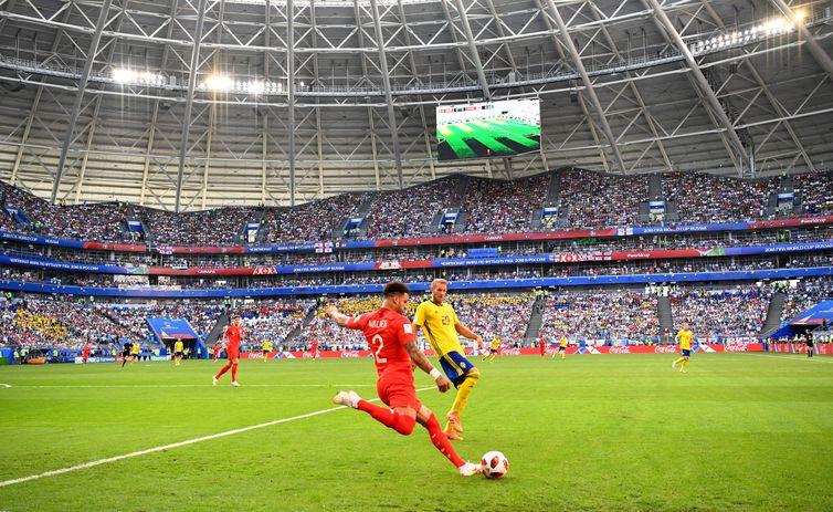Copa 2018, Inglaterra e Suécia, Lances  REUTERS/Dylan Martinez