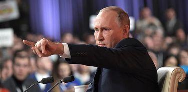 Vladmir Putin em entrevista coletiva anual de imprensa