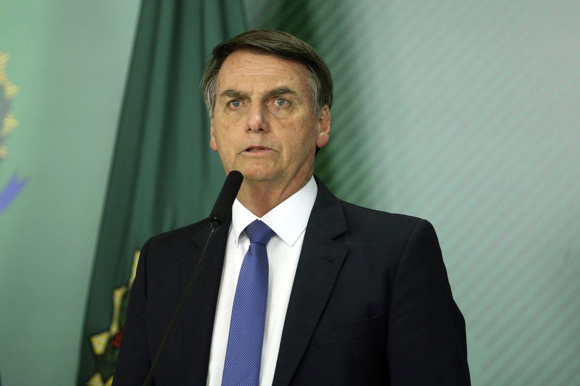 O presidente da República, Jair Bolsonaro, fala sobre o rompimento da barragem de Brumadinho em Minas Gerais