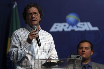 Brasília - O  presidente da SBPC, Ildeu Moreira, discursa durante a abertura da 14ª Semana Nacional de Ciência e Tecnologia (José Cruz/Agência Brasil)
