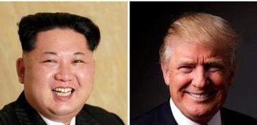 Os presidentes da Coreia do Norte, Kim Jong-un, e dos Estados Unidos, Donald Trump