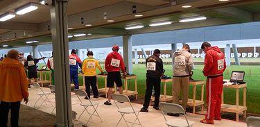 Atletas em competição no Jogos Panamericanos de Toronto, no Canadá