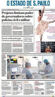 Capa do Jornal O Estado de S. Paulo Edição 2021-01-11