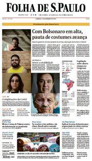 Capa do Jornal Folha de S. Paulo Edição 2020-09-13