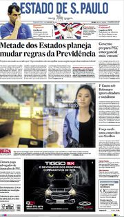 Capa do Jornal O Estado de S. Paulo Edição 2019-11-04