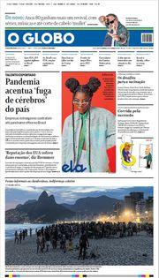 Capa do Jornal O Globo Edição 2021-01-10