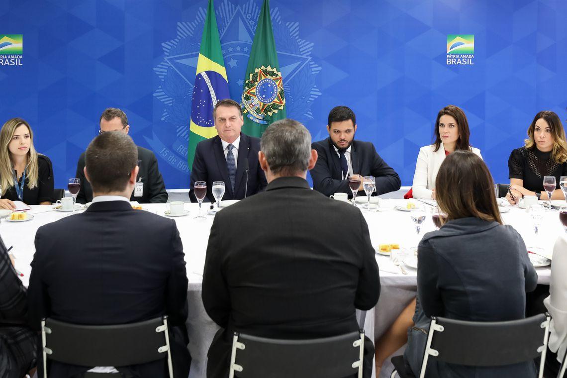 (Brasília - DF, 14/06/2019) Café da manhã com Jornalistas.  Foto: Marcos Corrêa/PR