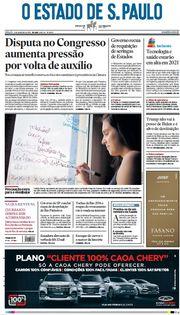 Capa do Jornal O Estado de S. Paulo Edição 2021-01-09