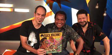 Alto-Falante conversa  com a banda Black Machine