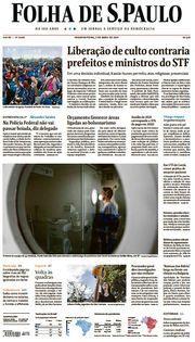 Capa do Jornal Folha de S. Paulo Edição 2021-04-05