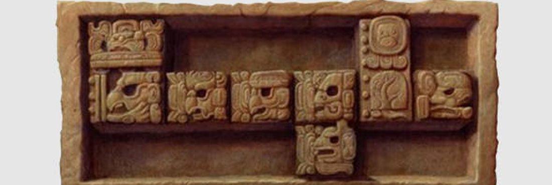 Doodle em homenagem ao fim do calendário maia