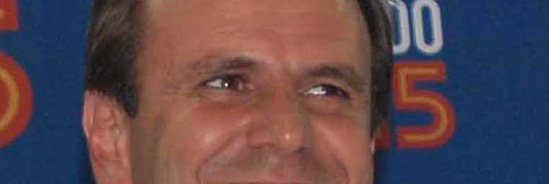 Eduardo Paes, candidato do PMDB, eleito no primeiro turno no Rio de Janeiro.