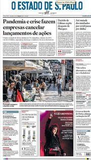 Capa do Jornal O Estado de S. Paulo Edição 2021-04-06