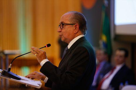 Rio de Janeiro - O presidente da Financiadora de Estudos e Projetos (Finep), Marcos Cintra, fala na comemoração de 50 anos de criação da entidade, no Museu do Amanhã (Fernando Frazão/Agência Brasil)