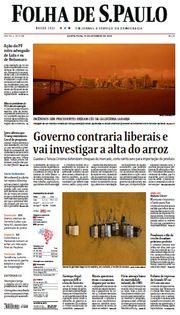 Capa do Jornal Folha de S. Paulo Edição 2020-09-10