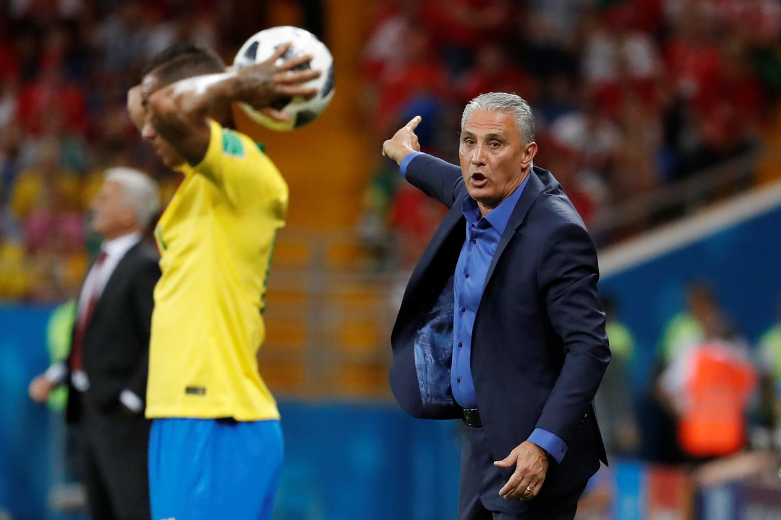 Soccer Football - World Cup - Group E - Brazil vs Switzerland - Rostov Arena, Rostov-on-Don, Russia - June 17, 2018   Brazil coach Tite gestures   REUTERS/Damir Sagolj