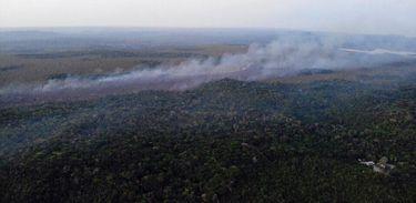 Fotos aéreas , incêndio Alter do Chão
