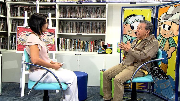 O cartunista Maurício de Sousa é o entrevistado do programa Conversa com Roseann Kennedy
