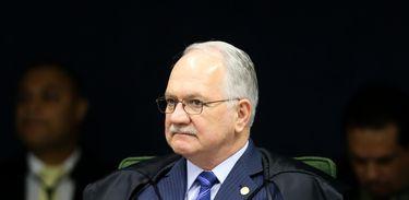 Brasília - O ministro Luiz Edson Fachin participa de sessão da segunda turma do Supremo Tribunal Federal.(Marcelo Camargo/Agência Brasil)