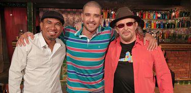 Maciel Salú, Diogo Nogueira e Geraldo Azevedo no Samba na Gamboa
