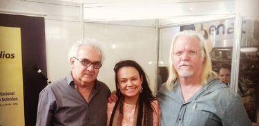 Milton Hatoum, Paulliny Gualberto Tort e Nicolas Behr na 33ª Feira do Livro de Brasília