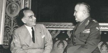 Getúlio Vargas e o general Eurico Gaspar Dutra