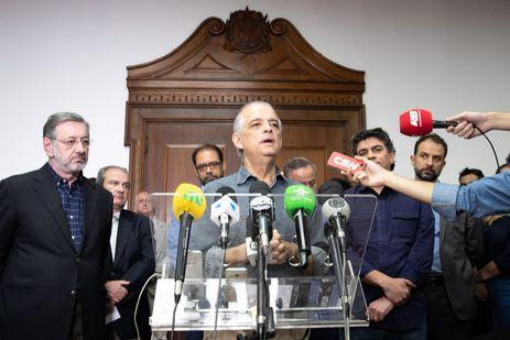O governador de São Paulo, Márcio França, concede entrevista sobre a negociação com os caminhoneiros