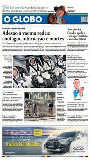 Capa do Jornal O Globo Edição 2021-09-16