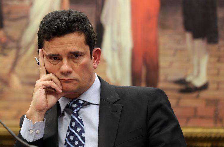 Brasília - O juiz federal Sérgio Moro, da 13ª Vara Federal de Curitiba, participa de audiência pública na Comissão Especial do Novo Código de Processo Penal, na Câmara dos Deputados (Wilson Dias/Agência Brasil)