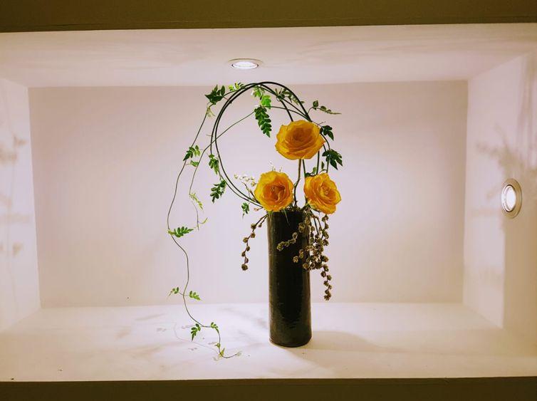 A arte da vida em forma de flores, é a ikebana, exposição que marca o centenário da imigração japonesa no Brasil, em Brasília.