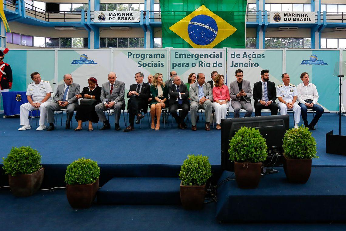 881a3356e ... Rio de Janeiro - Presidente Michel Temer participa da cerimônia de  lançamento do Programa Emergencial de