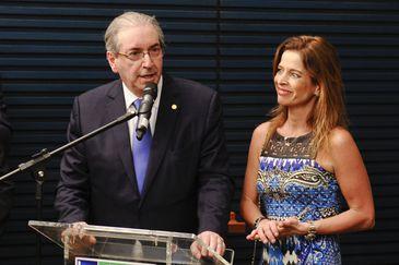 Eduardo Cunha e sua mulher, a jornalista Cláudia Cruz