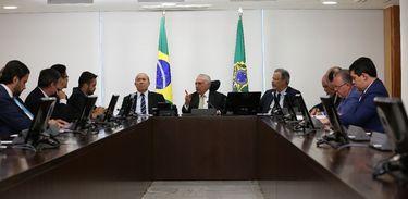 Reunião presidente Temer e ministros