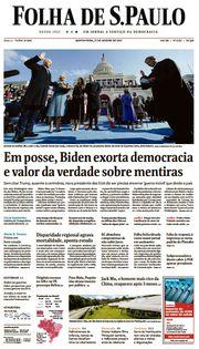 Capa do Jornal Folha de S. Paulo Edição 2021-01-21