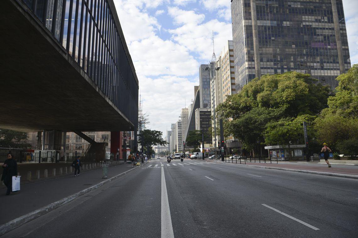 Movimento é menor nas ruas de São Paulo em dia de jogo da seleção