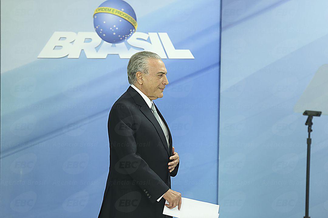 Brasília - O presidente da República, Michel Temer, faz pronunciamento oficial no Palácio do Planalto (Valter Campanato/Agência Brasil)