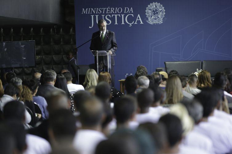 O ministro da Justiça, Torquato Jardim, abre cerimônia do evento anual dedicado ao enfrentamento ao uso e consumo de drogas instituída pela Semana Nacional de Políticas sobre Drogas.