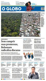 Capa do Jornal O Globo Edição 2021-09-05