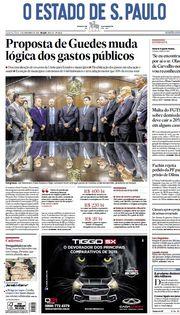 Capa do Jornal O Estado de S. Paulo Edição 2019-11-06