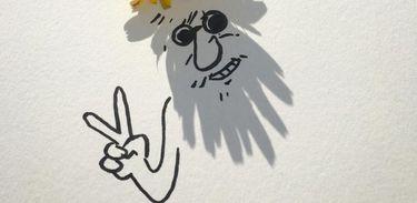Sombras viram ilustrações - Vincent Bal