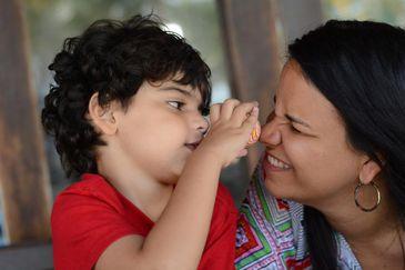 Marcelo e a mãe, Roberta Vasconcellos